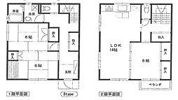 [一戸建] 兵庫県尼崎市稲葉荘2丁目 の賃貸【/】の間取り