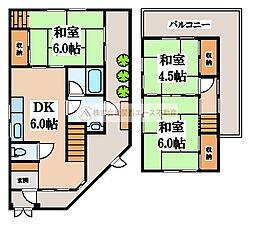 [一戸建] 大阪府堺市北区百舌鳥西之町2丁 の賃貸【/】の間取り