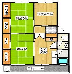 サイトウマンション[202号室]の間取り