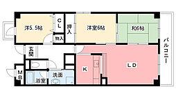プリムール吉井[1階]の間取り