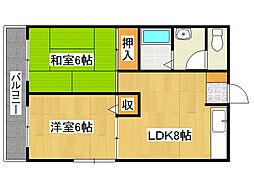 兵庫県神戸市垂水区泉が丘5丁目の賃貸マンションの間取り