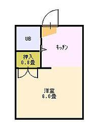 弘林コーポ[105号室]の間取り