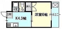 コンフォート飯田[2階]の間取り