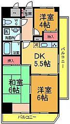 K−2レジデンス[504号室]の間取り