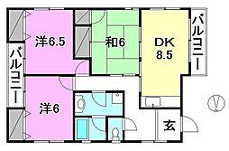 岩田マンション[2F 号室号室]の間取り