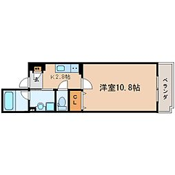 JR東海道本線 東静岡駅 徒歩12分の賃貸マンション 3階1Kの間取り