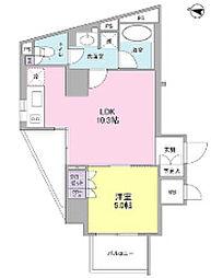 東京都文京区西片1丁目の賃貸マンションの間取り