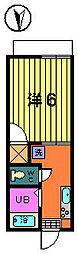 第二サフランハイツ[2−B号室]の間取り