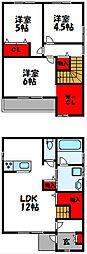 [一戸建] 福岡県糟屋郡新宮町下府3丁目 の賃貸【福岡県 / 糟屋郡新宮町】の間取り