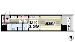 プレサンス新神戸[5階]の間取り