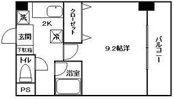 広島県広島市東区光町1丁目の賃貸マンションの間取り