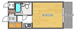 ライトハッピー[1階]の間取り