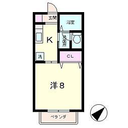 パークサイドビューB棟[1階]の間取り