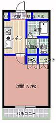茨城県ひたちなか市大平3丁目の賃貸アパートの間取り