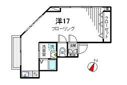 木村ビル[203号室]の間取り