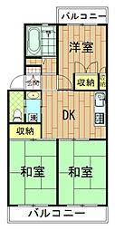 神奈川県川崎市幸区北加瀬の賃貸マンションの間取り