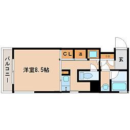 兵庫県尼崎市開明町3丁目の賃貸マンションの間取り