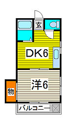 一二三マンション[3階]の間取り