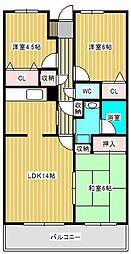 グレース・レジデンス東松戸[3階]の間取り