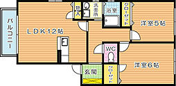 フェリーチェ学研台II C棟[2階]の間取り
