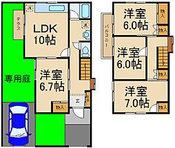 [一戸建] 千葉県柏市花野井 の賃貸【/】の間取り