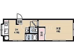 葵ハイツ[1階]の間取り