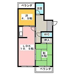 メゾン京命[3階]の間取り