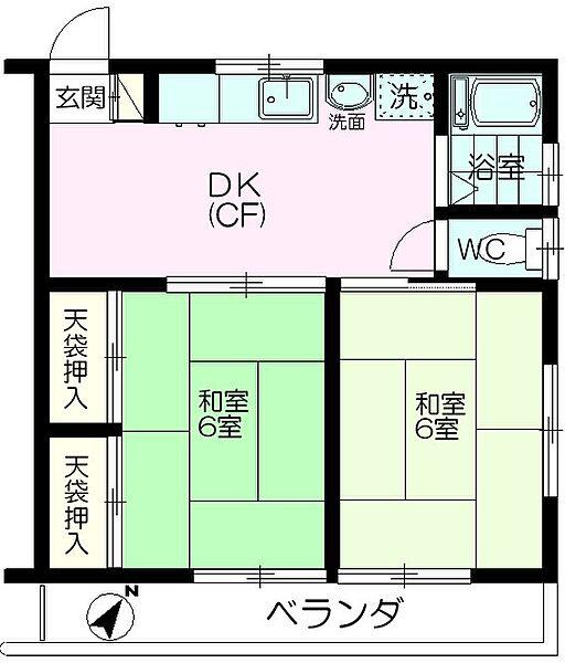 コーポ新倉[2階]の間取り
