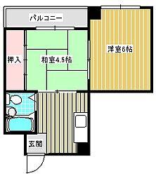 メゾン恒榮[306号室]の間取り