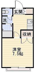 長野県長野市三輪9丁目の賃貸マンションの間取り