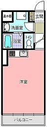 フォレスト五軒町[205号室]の間取り