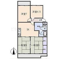 マンション鈴木(A、B、C)[3階]の間取り