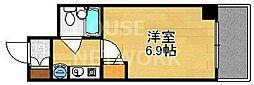 DETOM-1京都外大南[203号室号室]の間取り