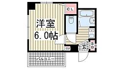 兵庫県神戸市灘区原田通1の賃貸マンションの間取り