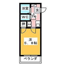 プリミエール KATO[1階]の間取り