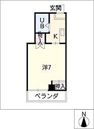 グレイス小賀須[5階]の間取り