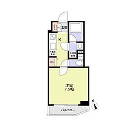 東京メトロ丸ノ内線 方南町駅 徒歩4分の賃貸マンション 4階1Kの間取り