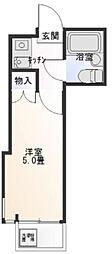 東京都葛飾区東立石4丁目の賃貸マンションの間取り