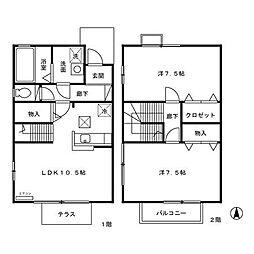 ローズコート室町[1階]の間取り