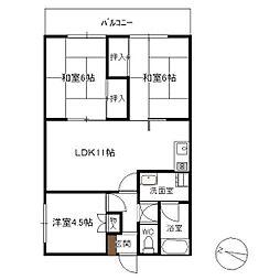 RKマンション[203号室]の間取り
