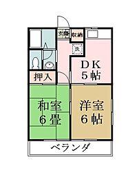 ドマ・ファミール[102号室]の間取り