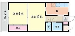 東京都荒川区荒川6丁目の賃貸マンションの間取り
