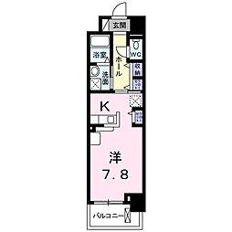JR山陽本線 北長瀬駅 徒歩17分の賃貸マンション 1階1Kの間取り
