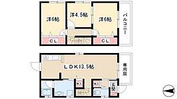 Tree House 1階3LDKの間取り