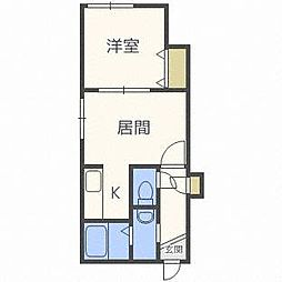 ANIMATO153[2階]の間取り