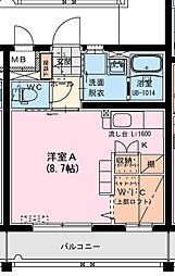 (仮称)船塚1丁目マンション 3階ワンルームの間取り