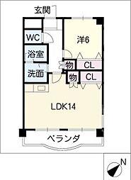 リ エスポワール[3階]の間取り