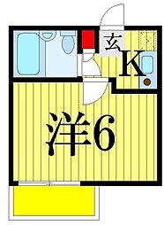 ファミール堀切A棟[102(2F)号室]の間取り