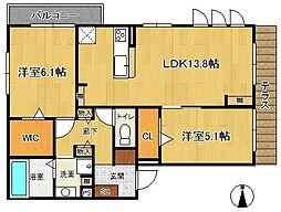 (仮称)荒木町D-room[1階]の間取り