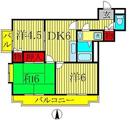 メゾン・ラポームI[5階]の間取り
